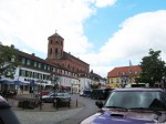 View of the market in the old town of Homburg, Saarland