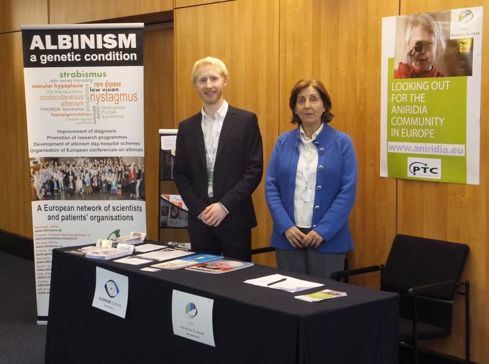 The annual conference of the European Strabismological Association in Alfandega do Porto. Once again Albinism Europe and Aniridia Europe were sharing a common stand.